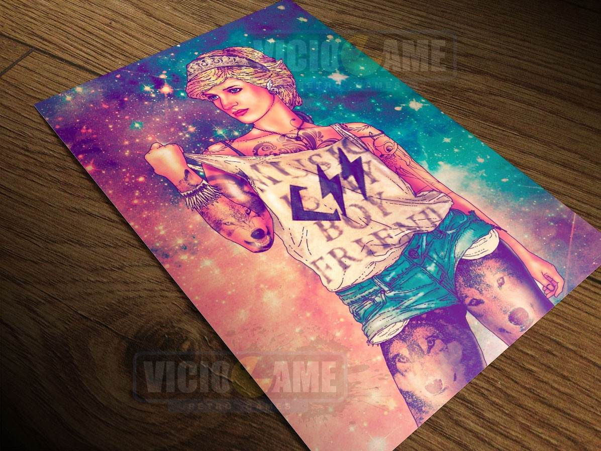 Lady Di Pop Poster Em Papel Fotografico 30 X 45 Cm 687 R 23 59 Em Mercado Livre