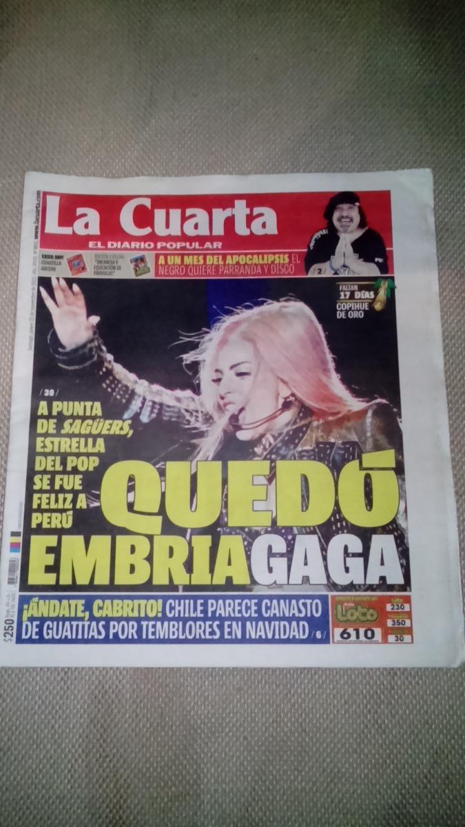 Lady Gaga Diario La Cuarta Chile Noviembre 2012