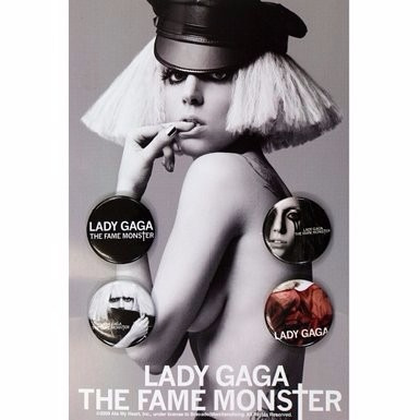 lady gaga - paquete de botones de the fame monster