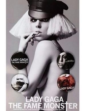 lady gaga - paquete de botones de the fame monster