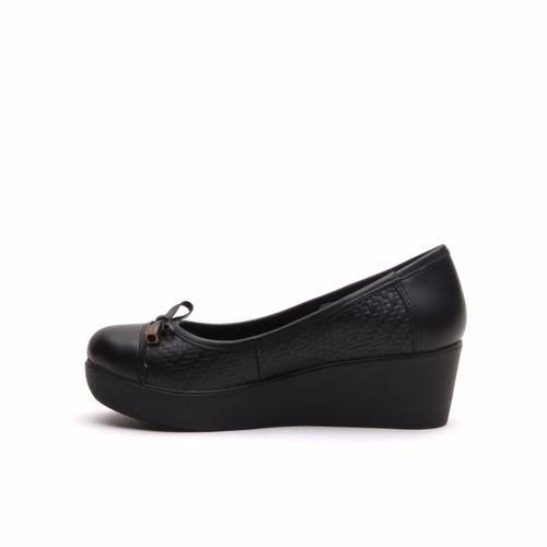 lady stork maite - zapato zapatilla mujer plataforma cuero