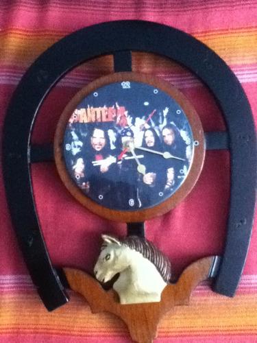 lae reloj caja de madera modelo herradura con caballo