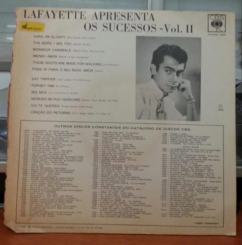 lafayette apresenta os sucessos - vol. 2 - 1966 (lp)