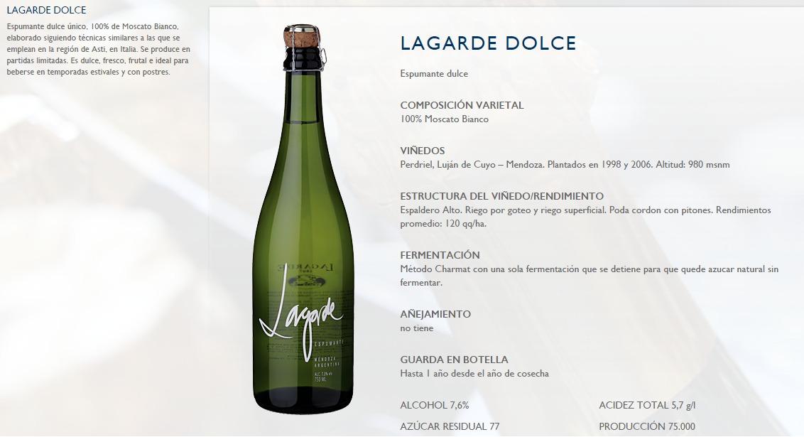 5d1ef41893 lagarde dolce espumante natural por 750 cc - solo envios. Cargando zoom.