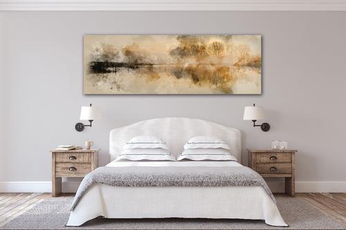 lago paisaje vintage gde cuadro decorativo lienzo canvas