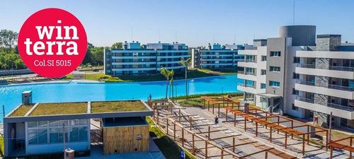 lagoon pilar 2 ambientes con terraza y vista a la laguna!!