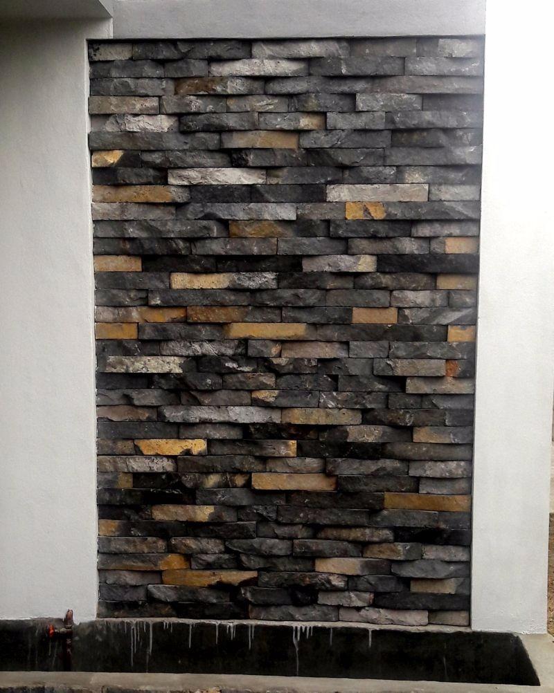 Laja irregular de piedra de recinto para muro llor n for Piedra para muros interiores