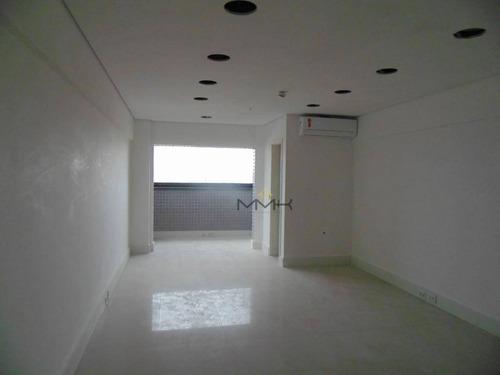 laje comercial para locação - legacy tower - santos/sp - 547m² com 10 vagas garagem - recepção - 3 salas de reunião no prédio - lj0011