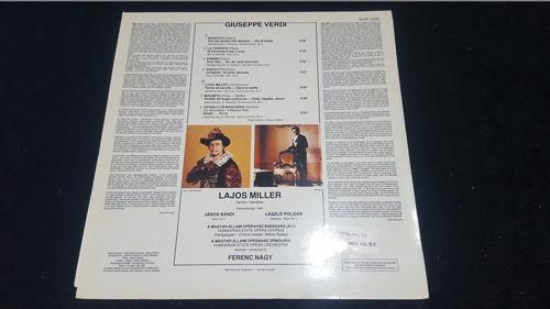 lajos miller verdi arias para barítono lp vinil hungría 1983