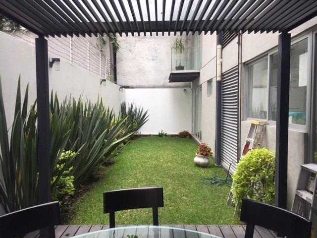 lamartine, precioso y moderno en pb con terraza y jardín!