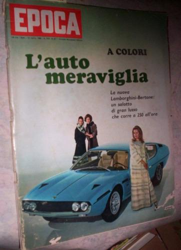 lamborghini bertone 1968 revista italiana epoca