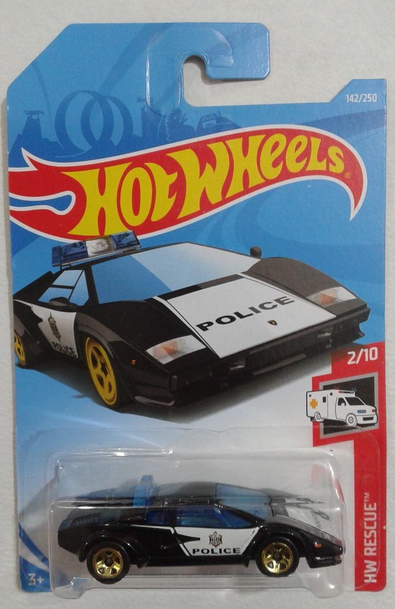 Lamborghini Countach Police Car Hot Wheels 2019 142 250 60 00