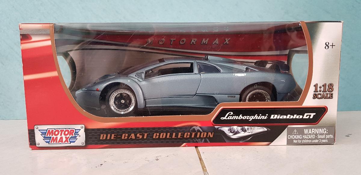 Lamborghini Diablo Gt Escala 1 18 Motor Max Collection Nuevo