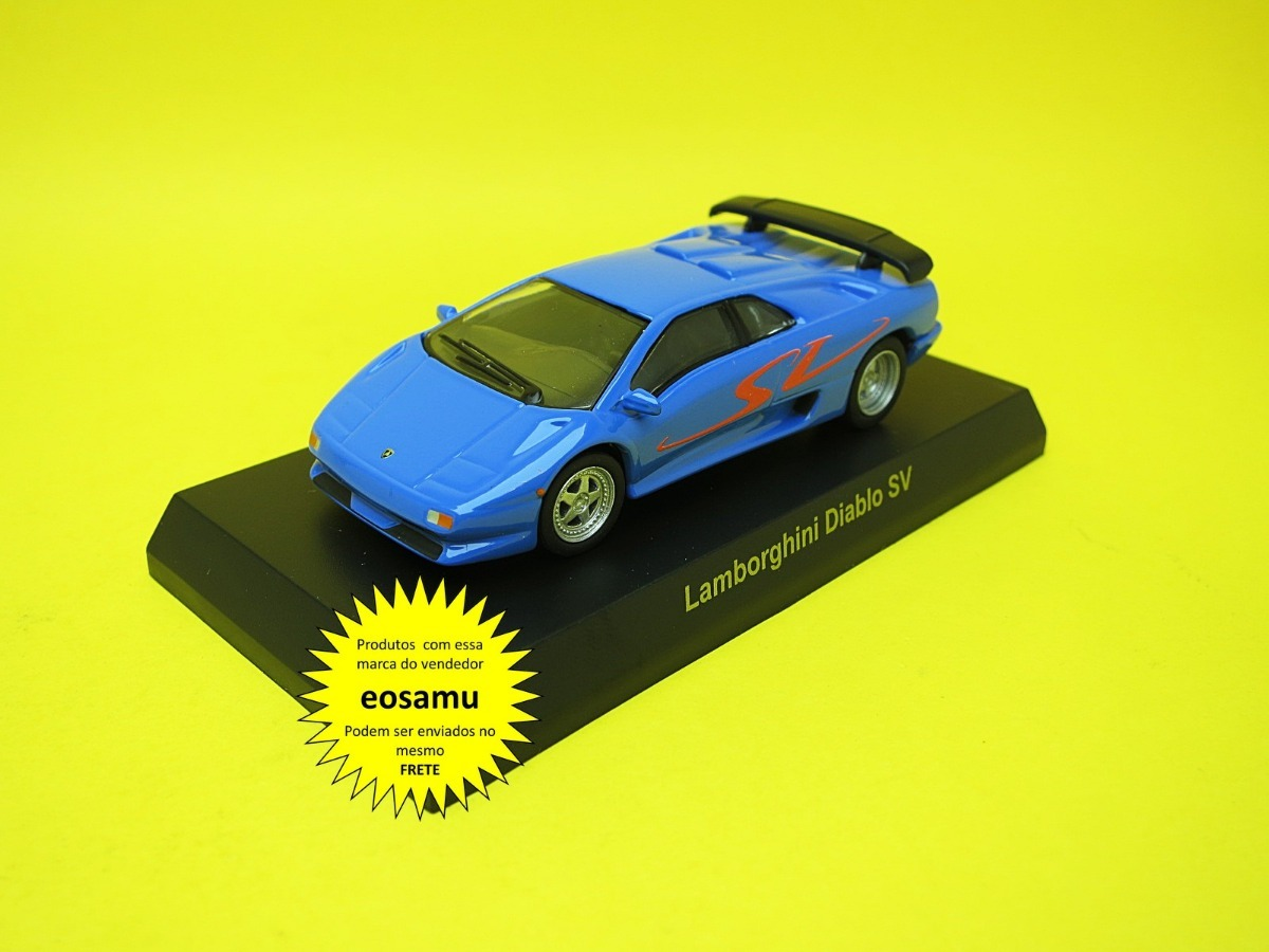 Lamborghini Diablo Sv Azul Completo Kyosho 1 64 R 79 00 Em