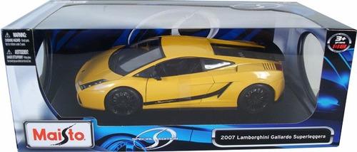 lamborghini gallardo superleggera 2007.amarillo  maisto 1/18