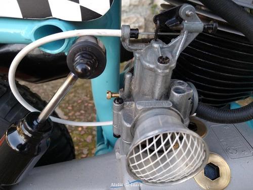 lambretta ld 150 1957  carac. gulf racing  peça decorativa