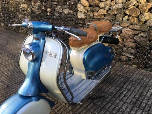 lambretta ld 150 antiga de coleção placa preta motoneta