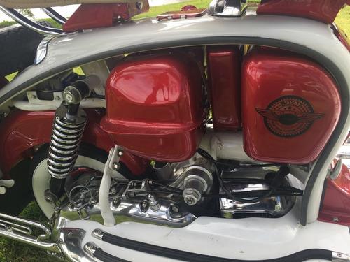 lambretta li 1963, moto antiga, placa preta, coleção,fbva