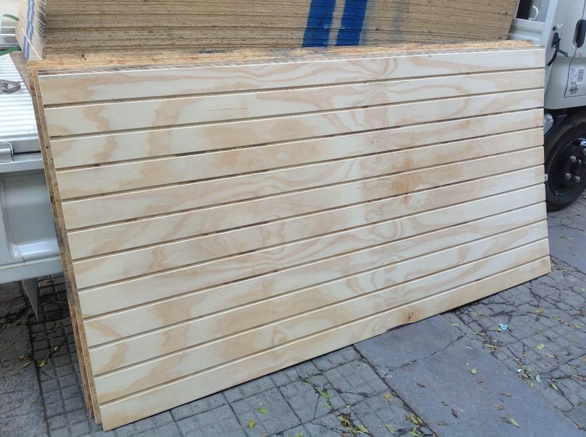 Lambriz de madera en placas 1 22 x 2 44 en - Laminas de madera para pared ...