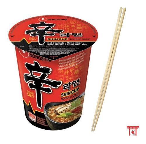 lamen coreano shin cup (picante) + 01 hashi descartável