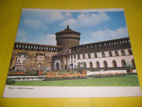 lamina 20 x 24 cm milano castello sforzesco castillo palacio