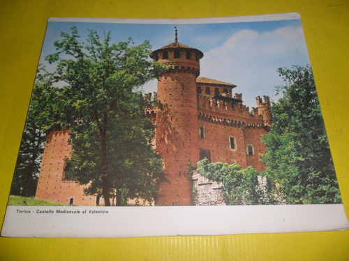 lamina 20 x 24 cm torino castello medioevale valentino