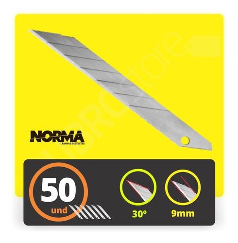lamina 30 graus para estilete de 9mm uso profissional c/50