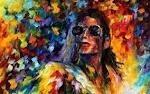 lamina 45 x 30 cm. - musica - michael jackson abstracto