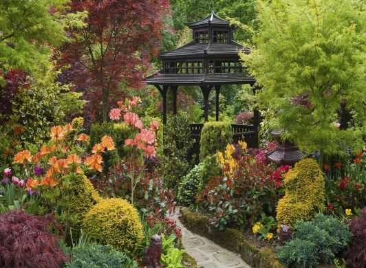 L mina 45x30 cm pergola plantas y flores en jardin japones 380 80 en mercado libre - Plantas jardin japones ...