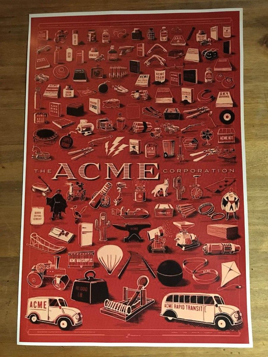 Lamina Acme Para Encuadrar - $ 200,00 en Mercado Libre