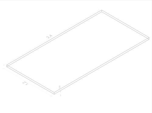 lamina acrílica transparente de 4 mm 1,20x2,40