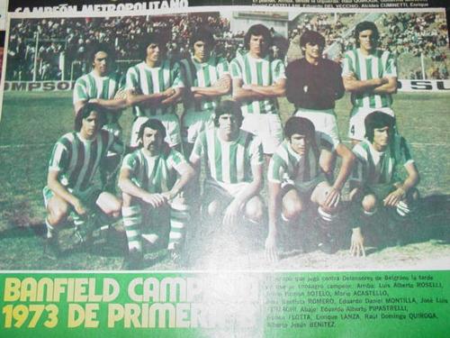 lamina antigua banfield campeon primera b 1973 equipo