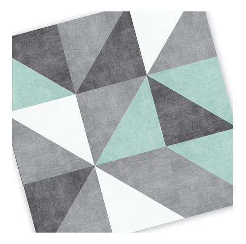 lamina autoadhesiva pvc cocina simil azulejos triangulares