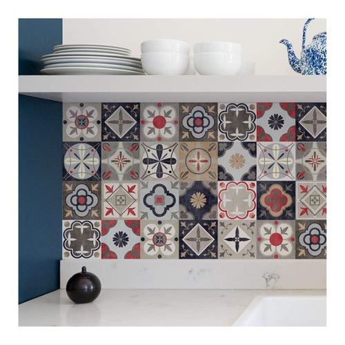 lamina azulejos estilo calcareos autoadhesivos 1,20x0,60 mts