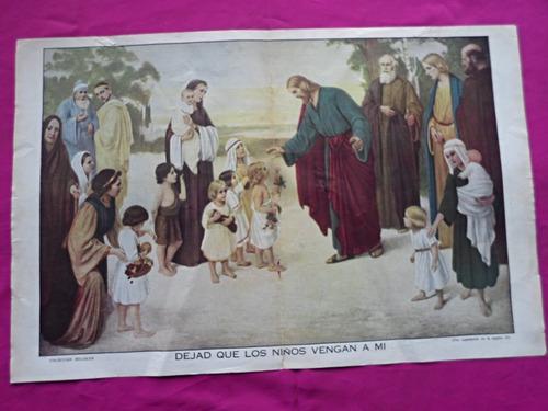 lamina billiken jesus dejad que los niños vengan a mi
