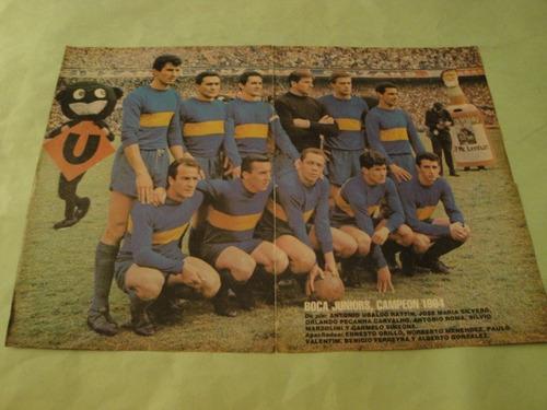 lamina boca juniors campeon 1964