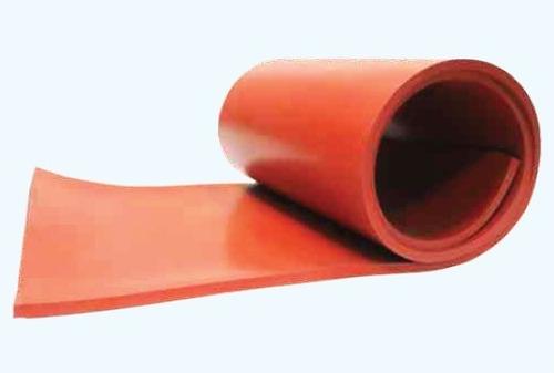 lamina de caucho silicon roja