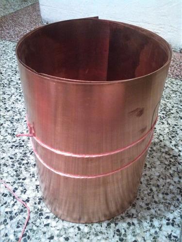 lamina de cobre 075mm 20cm x 31cm