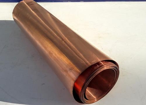 lamina de cobre de 30 x 20 cm de 0,11 mm,ver bien