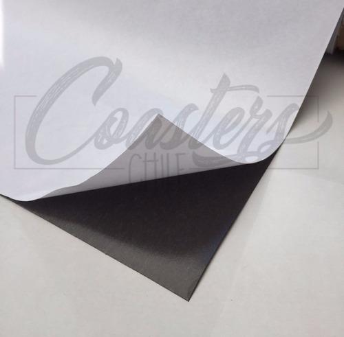 lamina de iman con adhesivo para magneticos un metro lineal