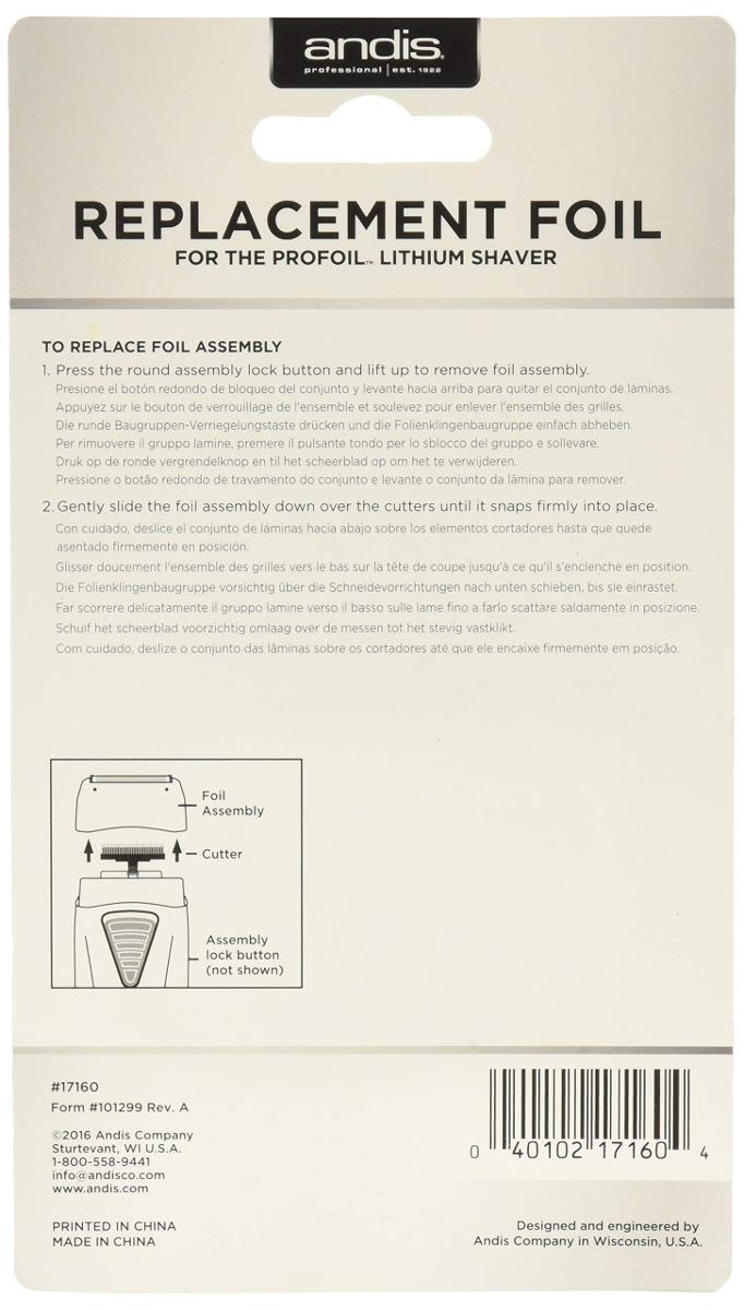 Lámina De Repuesto Andis Para La Afeitadora De Afeitar Y. -   35.895 ... 287c0ced3b18