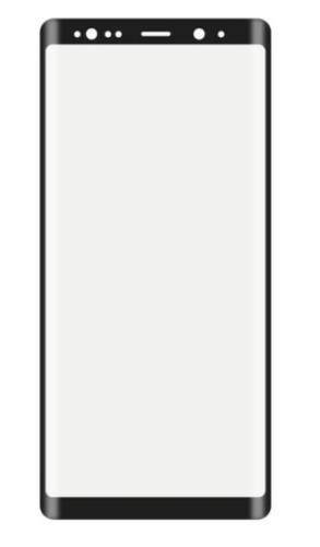lamina de vidrio 3d samsung note 8 negro full glue full pega