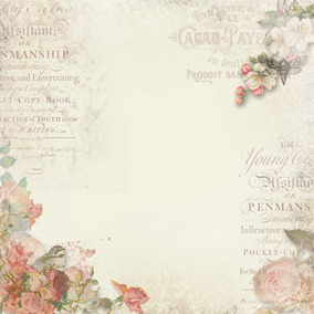 Lamina Digital Para Decoupage Sublim Flores Shabby Chic 146