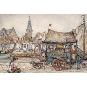 Lámina Enmarcada De Anton Pieck - Monnickendam