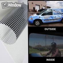 lamina film vinilo perforado windows vision blanco plotter