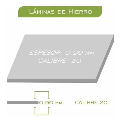lamina hierro pulido 0.90mm de 2x1 calibre 20