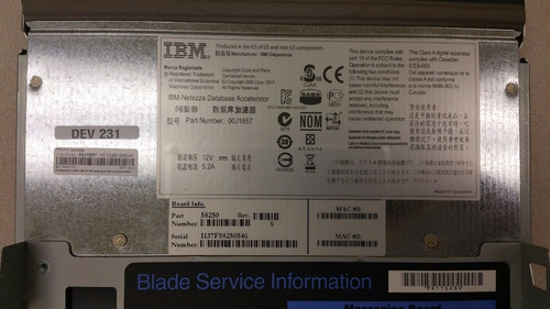 lamina ibm hs2268y8186 + netezza acecelerator 00j1657 board