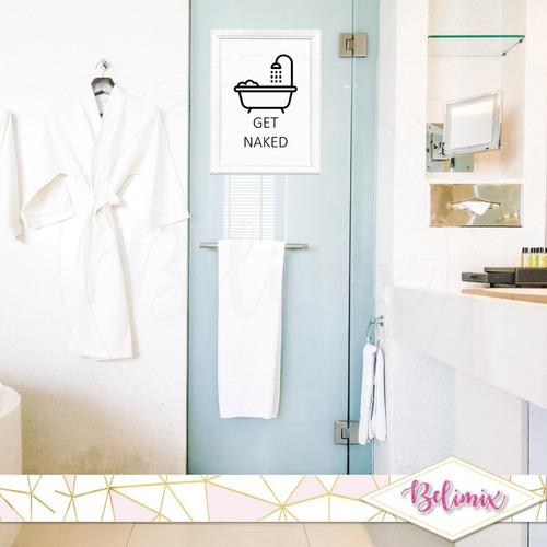 lámina imprimible moderno deco cuadros baño humor minimalist