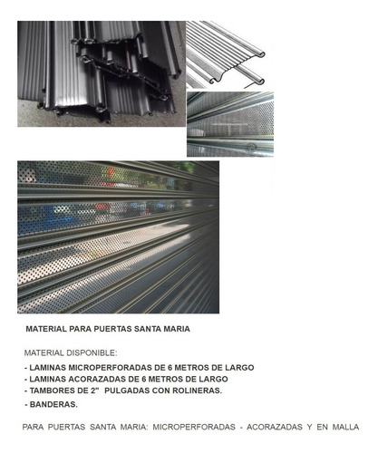 lamina micro perforada galvand santa maria 6,05 mts