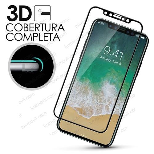 lamina nano tech flexible 180° iphone x cubre completo black